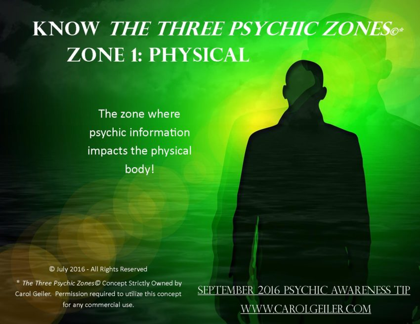 Psychic Zone 1 – The Physical Zone